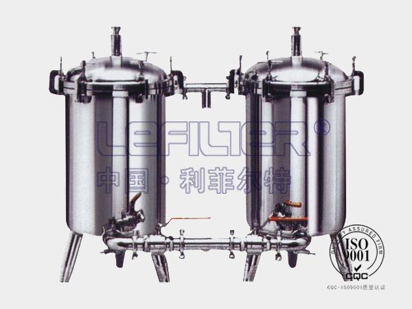 化学药品预处理不锈钢并联袋式过滤器